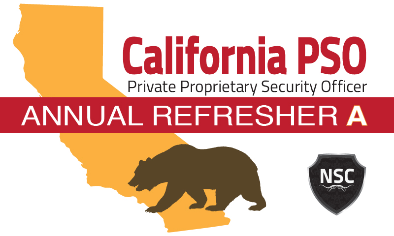 "California PSO Refresher License Training ""A"""